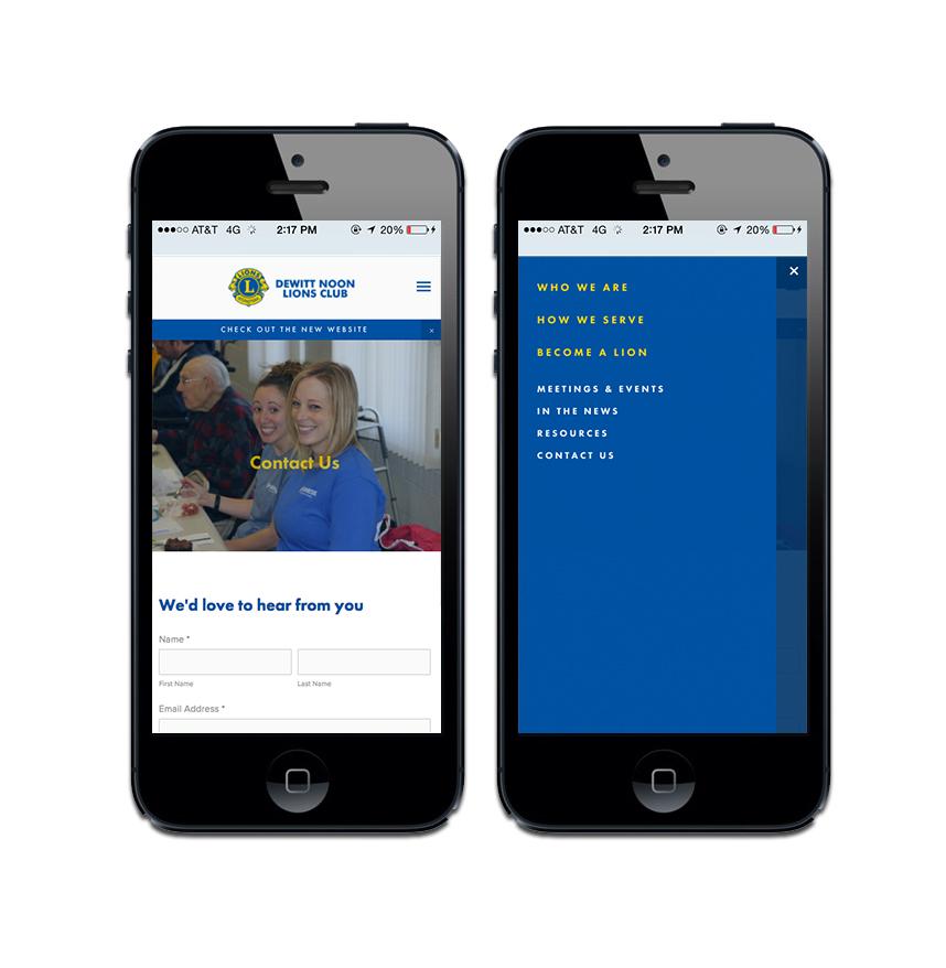 Mobile View - DeWitt Lions Club