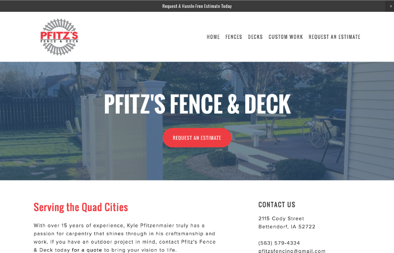 Pfitz's Fence & Deck Home Page