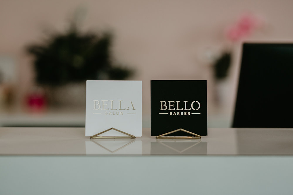 Bella Salon & Bello Barber Business Cards