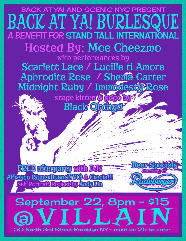 JOIN US WITH  BACK AT YA! BURLESQUE  Backsides for giving back! Be there   Proceeds go to provide spinal surgeries for children in East Africa    Get Your Tickets    From New York, to Philadelphia, to the final Benefit Bash in Los Angeles, Stand Tall is going coast to coast in celebration of its One Year Anniversary!  Keep an eye out over the next few weeks for updates and to RSVP.  We want to see you there!  Can't attend, but still want to help: Donate at   http://www.standtallinternational.org/donate