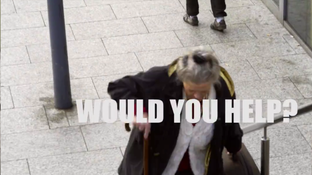 Would You Help?  Another thought provoking video looking at human nature.