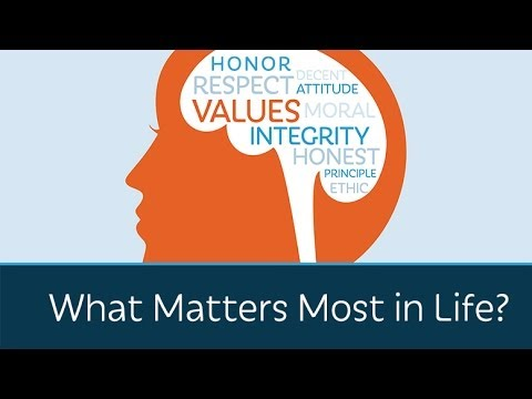 What Matters Most in Life?  A great video for looking at values and beliefs!