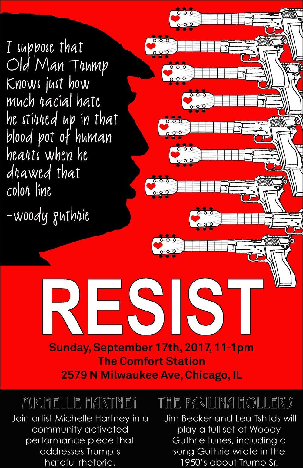 RESIST Woody Guthrie/Trump Poster