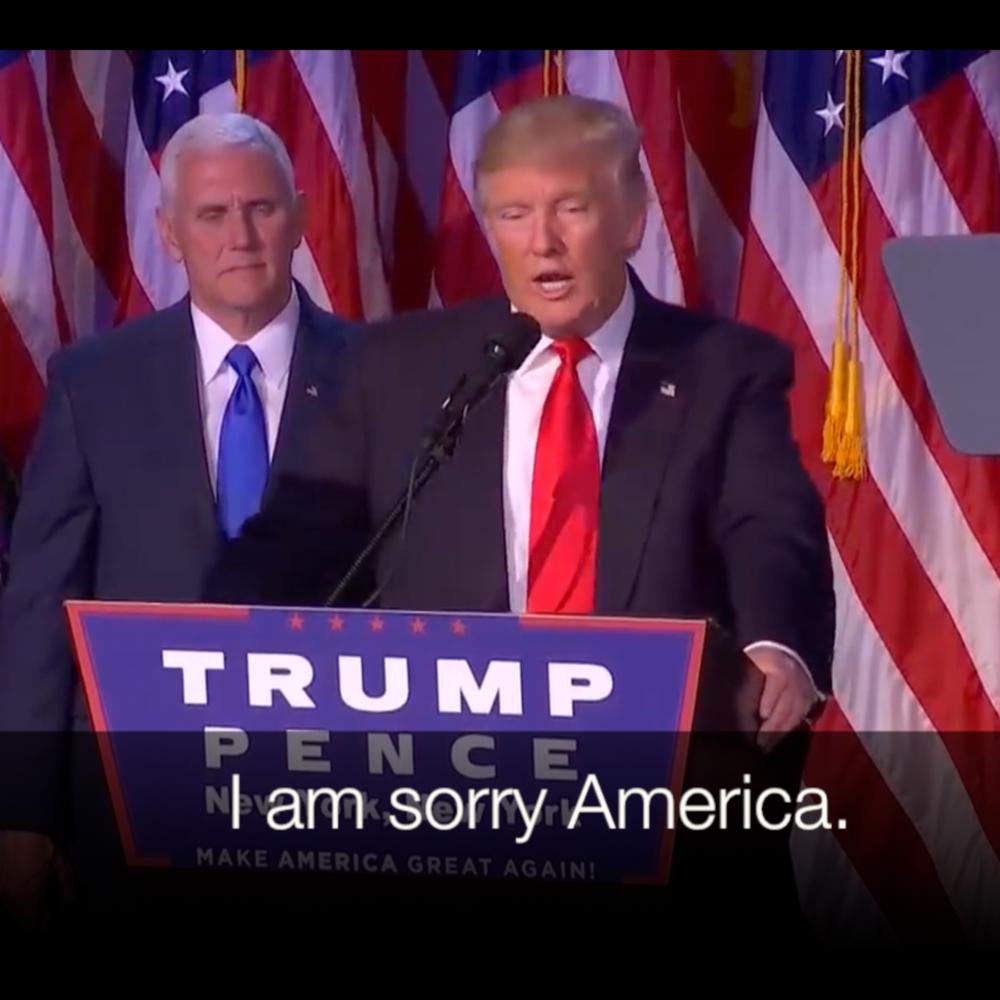 I'M SORRY AMERICA