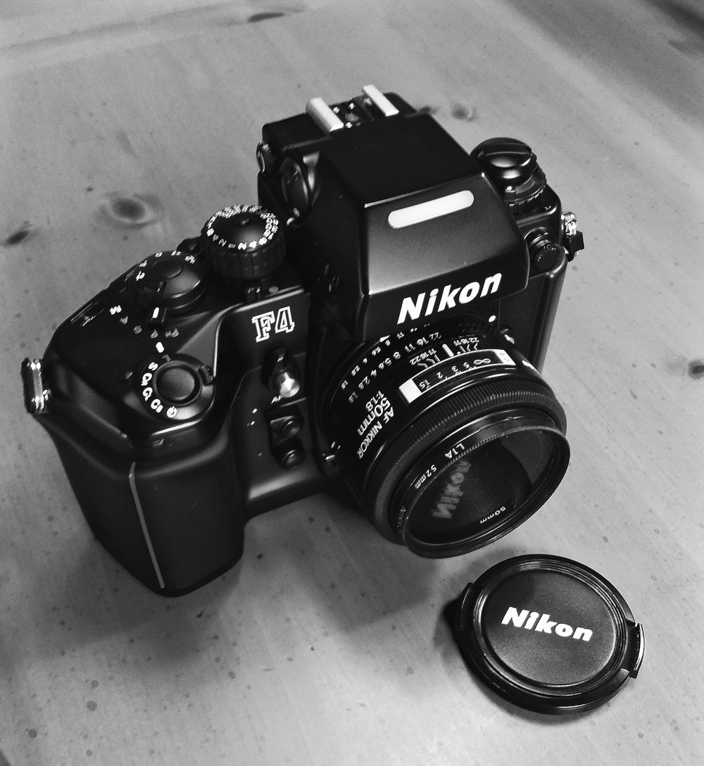 Nikon F4 with MB-20 grip