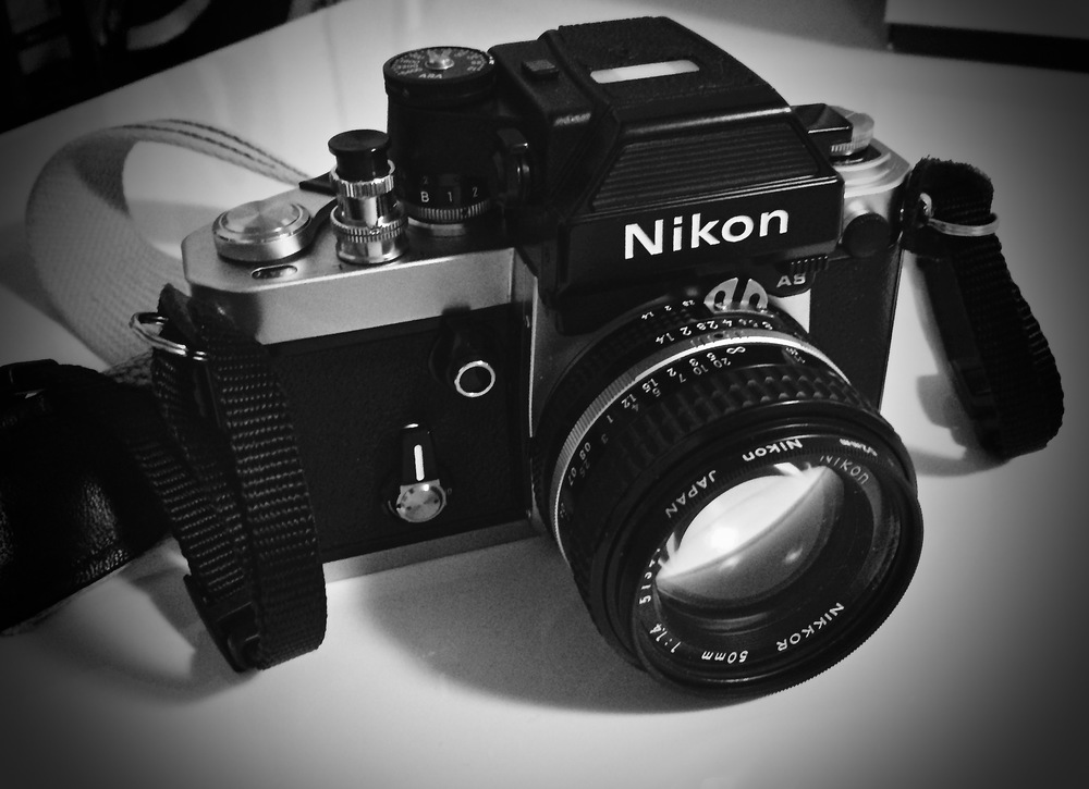 Chrome body Nikon F2As. Both the body and the DP-12 finder serviced by Sover Wong.