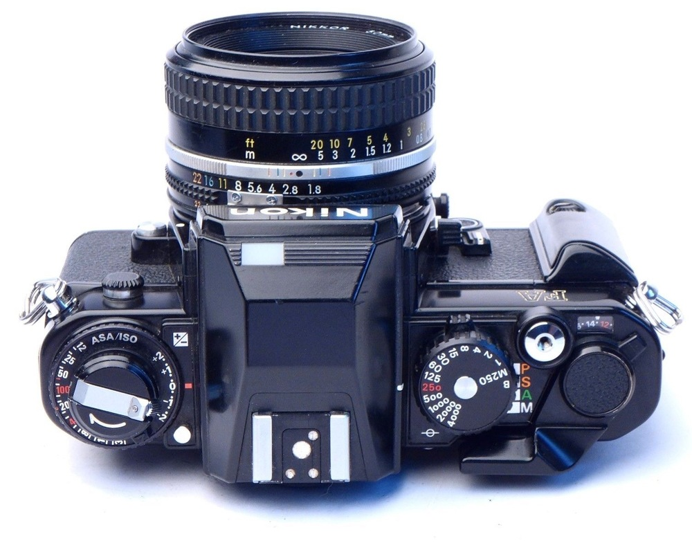 Top view of the Nikon FA