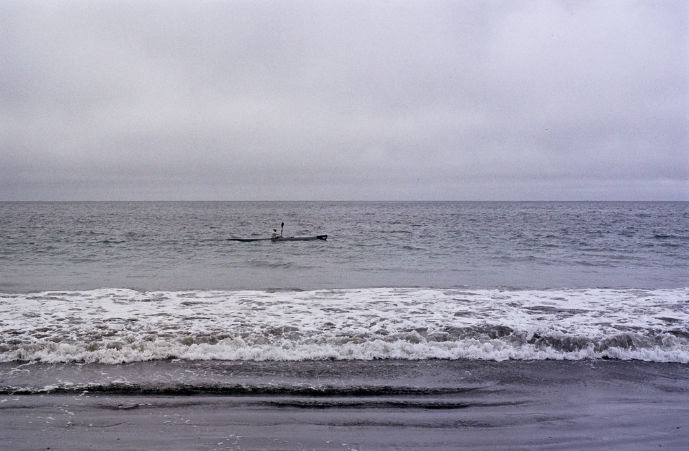 Kayaker off the Sonoma Coast Olympus OM2n, 50mm f/1.4 Zuiko on Kodak Portra