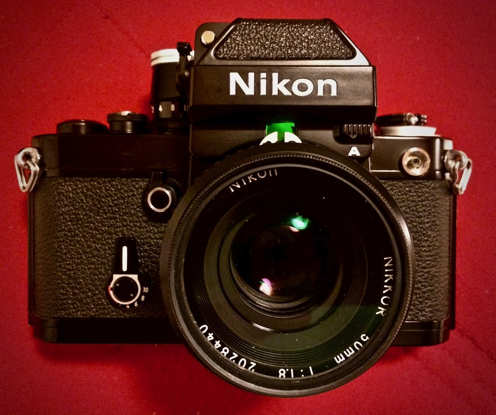 Nikon F2 with modified DP-11 finder