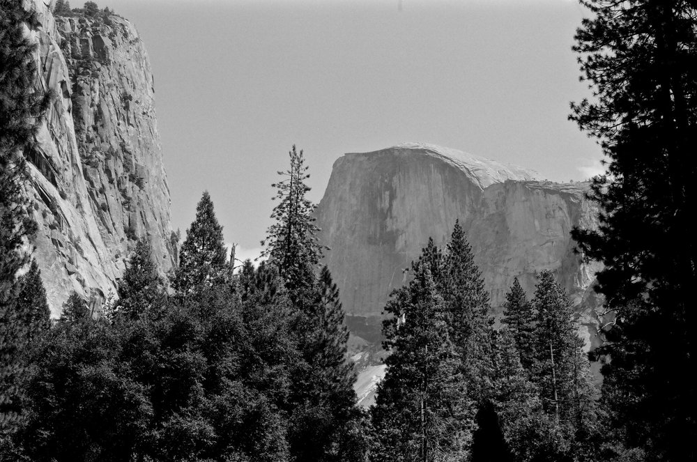Half Dome from The Ahwahnee. Pentax Spotmatic with 50mm f/1.4 Super Tak