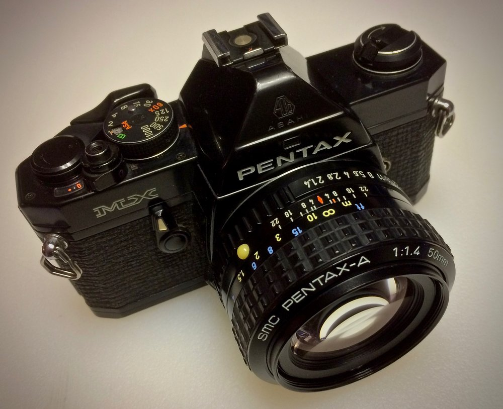 Pentax MX 35mm SLR with SMC Pentax-A 50mm f/1.4 lens