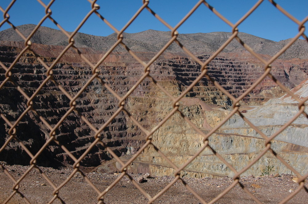 Abandoned Open Pit Copper Mine near Bisbee