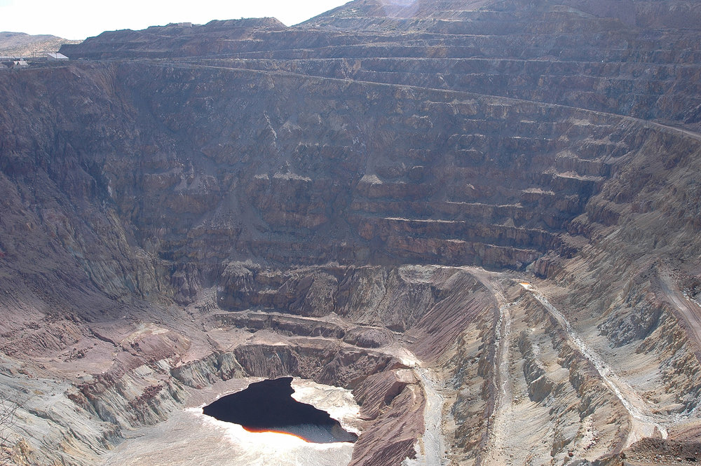 Another shot of the open pit copper mine