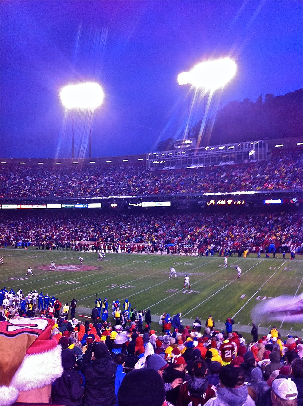 Cold and Miserable at Candlestick