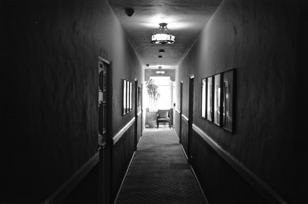 Hotel Hallway/Carmel, CA  Leica MP, 35/2 Summicron on Tmax 100