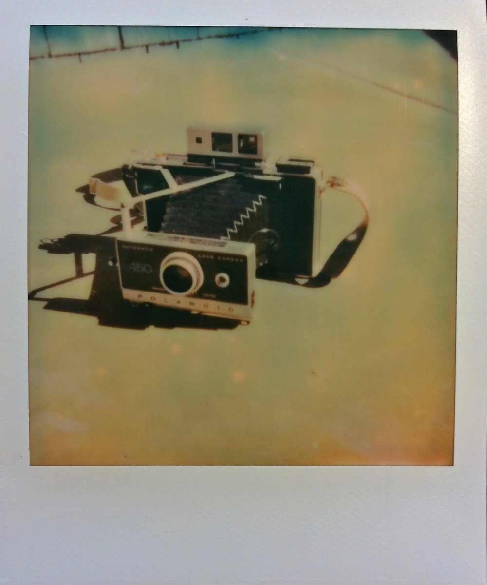 My Polaroid 450 shot with my Polaroid SX-70