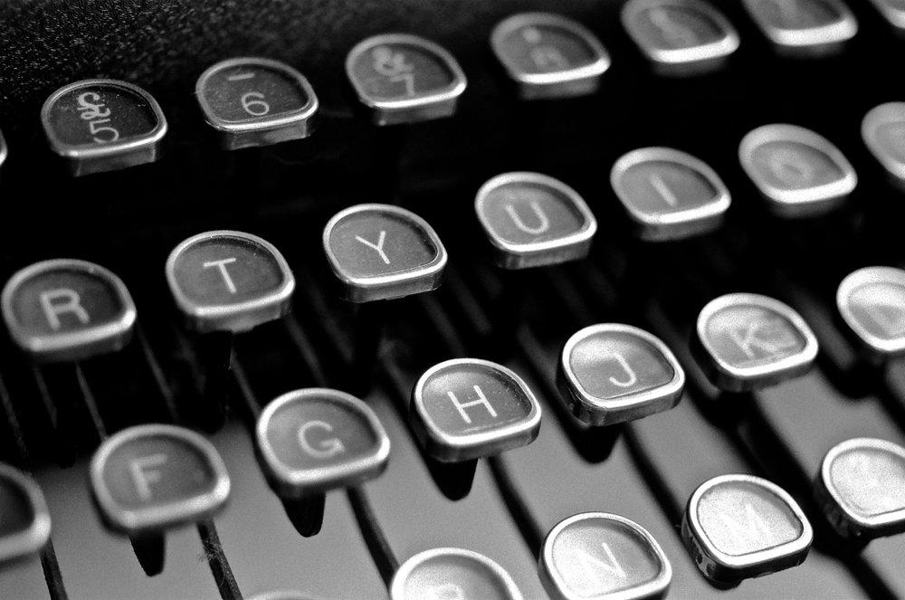 Royal Quiet Deluxe Typewriter, Nikon F2, 55mm Micro-Nikkor lens