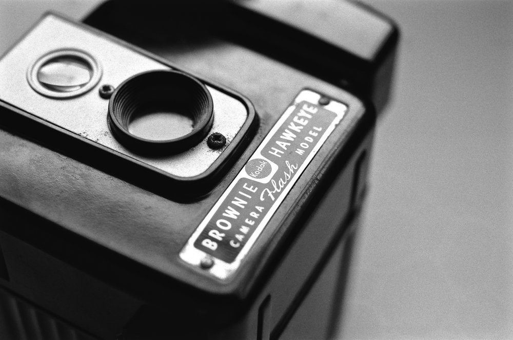 Kodak Brownie shot with Nikon F2 and 55mm Micro-Nikkor