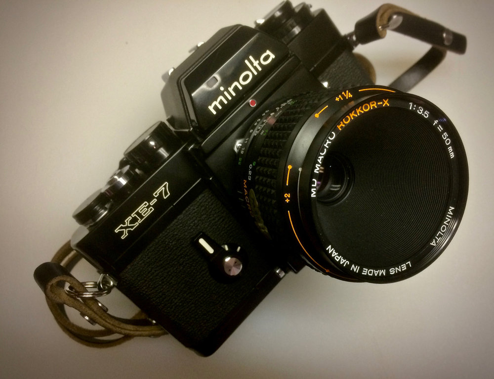 Minolta XE-7 with the Macro Rokkor