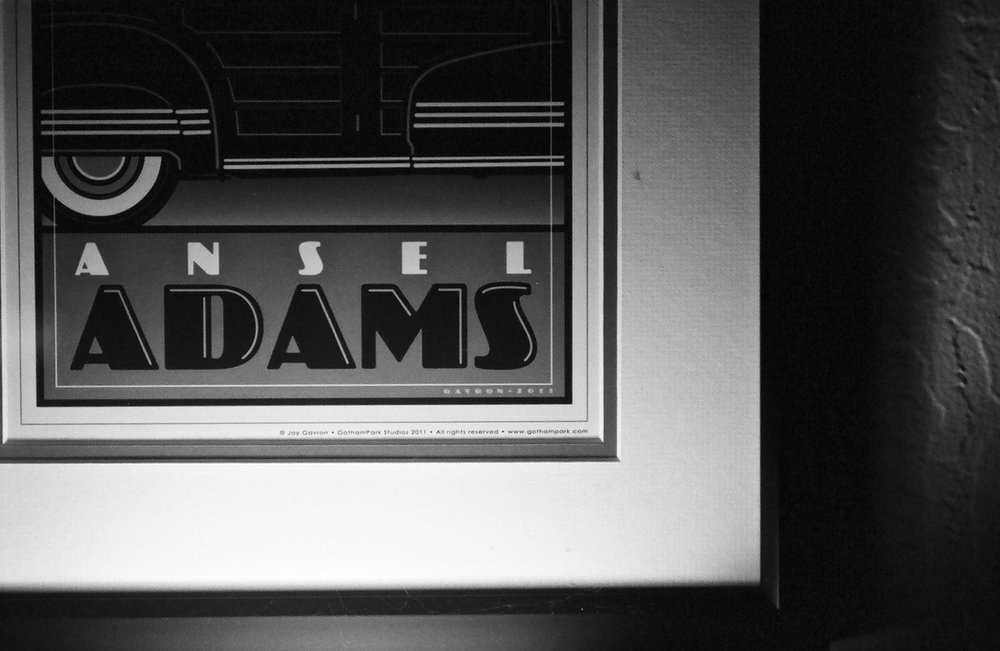 Ansel Adams poster in my den