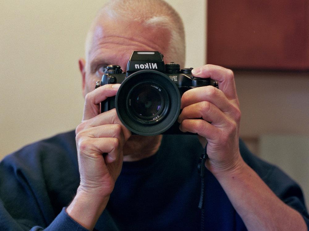 Nikon F4 Selfie, 50mm f/1.4 Nikkor AF-D on Kodak's Portra 400