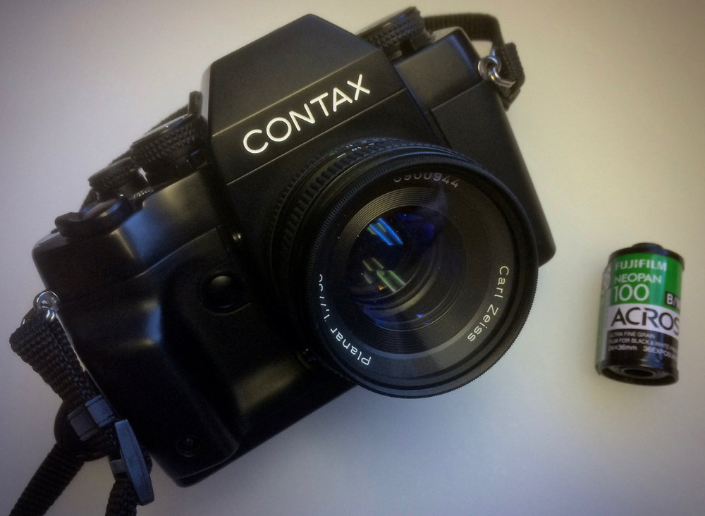 Contax RX with Carl Zeiss 50mm f/1.7 Planar