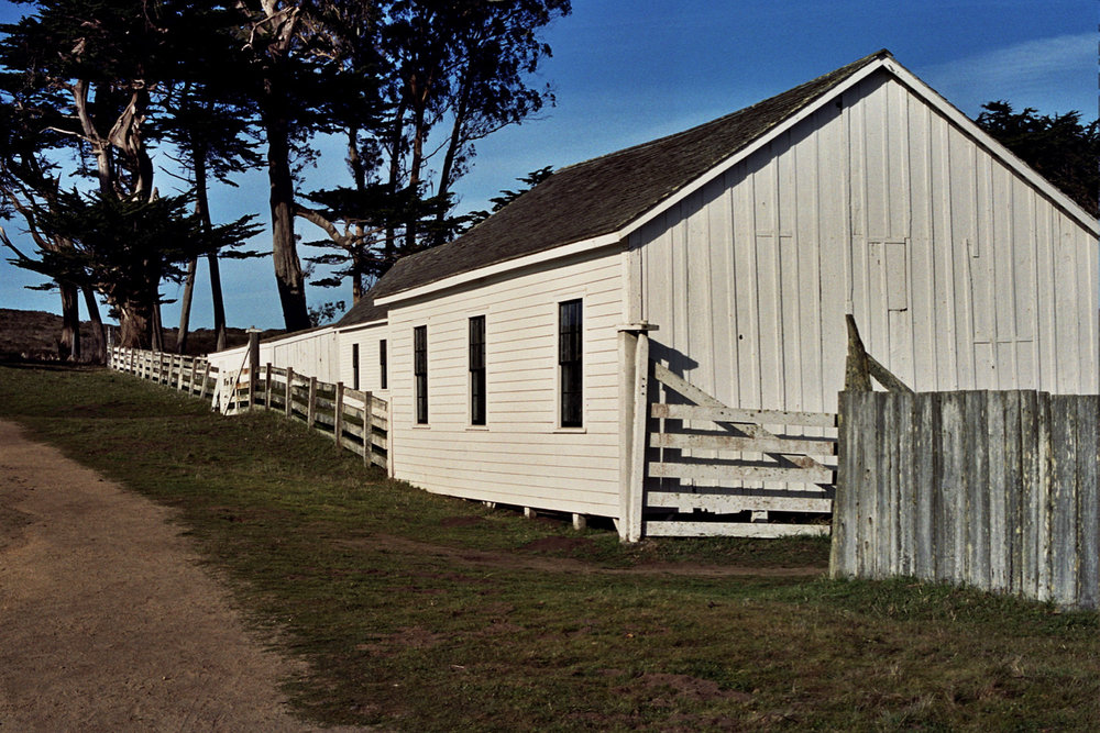 Outbuildings at Pierce Point Ranch trailhead