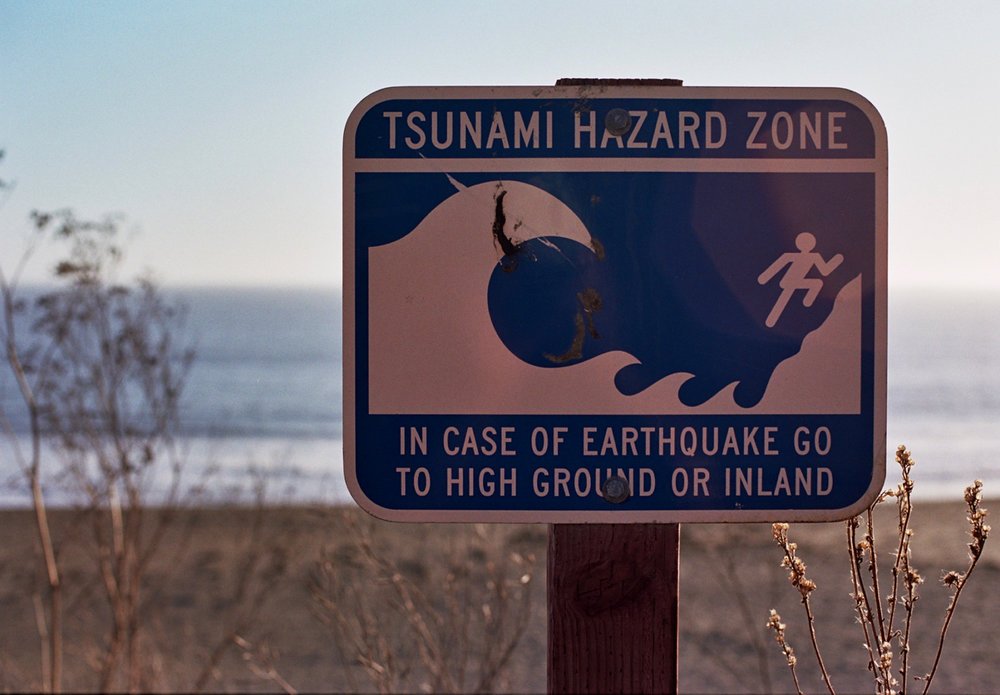Warning Sign on Doran Beach, Sonoma Co, CA
