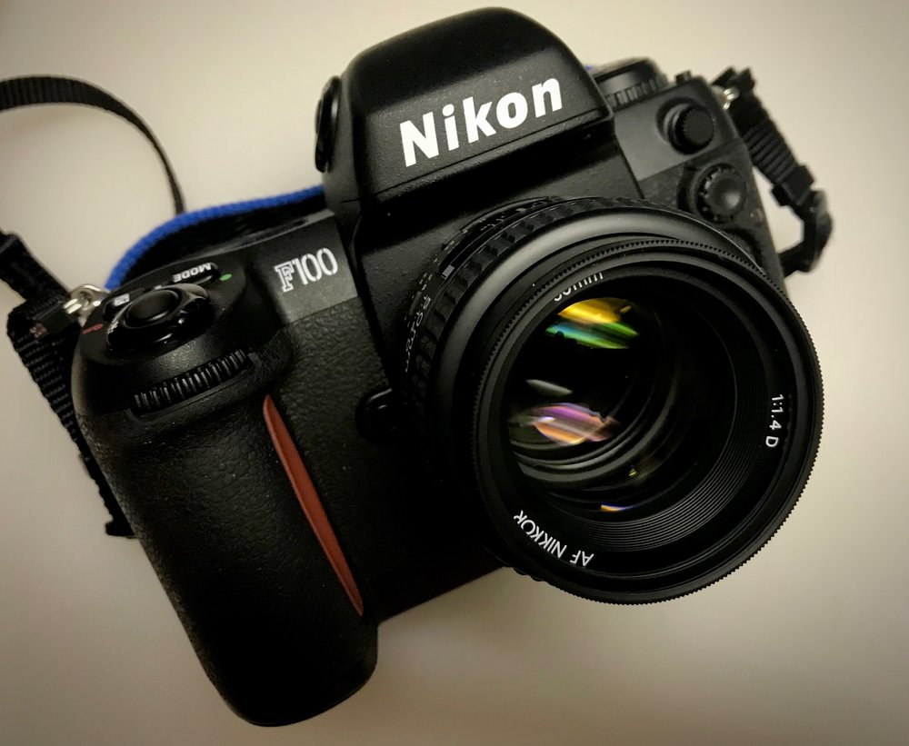 Nikon F100 with my 50mm f/1.4 AF-D Nikkor