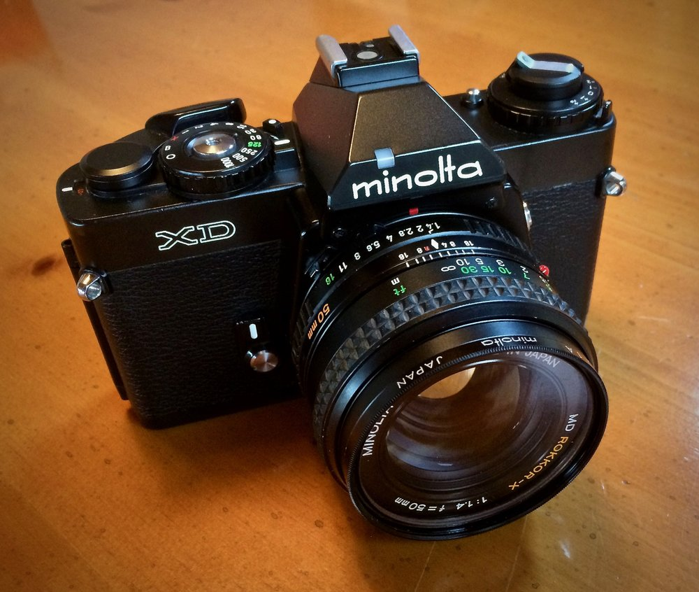 Minolta XD (Japan) XD-11 and XD-7 in the US