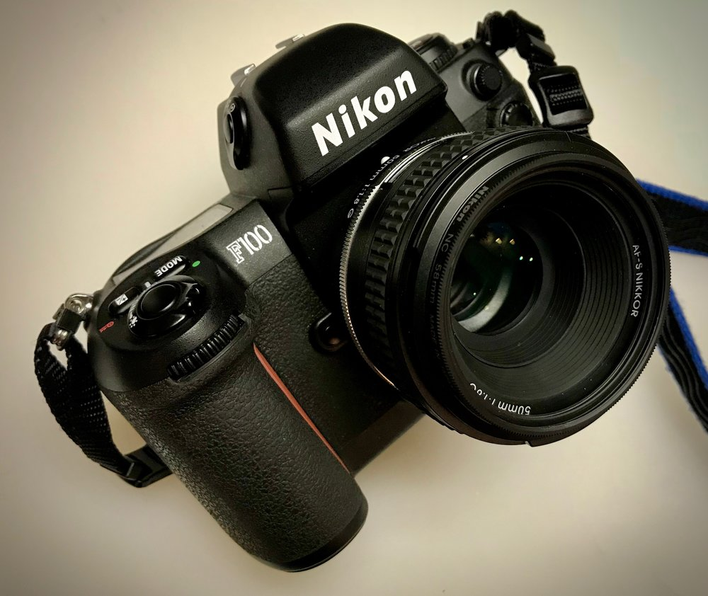 Nikon F100 with the Special Edition 50 (released with the Nikon Df digital camera)