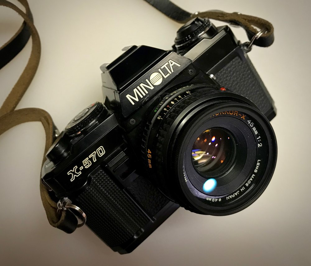 Minolta X-570 with Rokkor-X 45mm f/2
