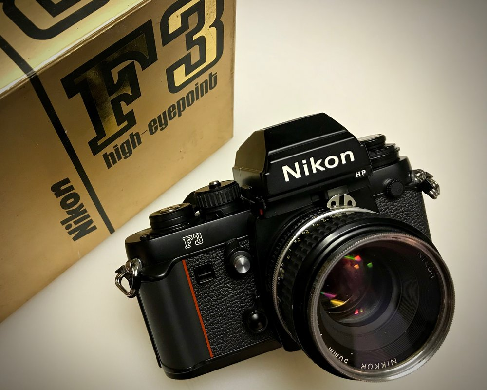 Nikon F3HP with 50mm f/1.8 Nikkor lens