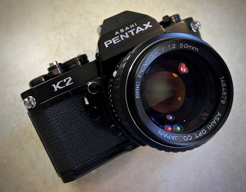 Pentax K2 back from the shop!