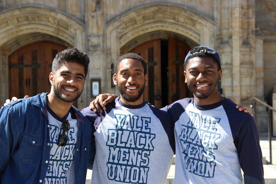 Volunteers from the Yale Black Men's Union, headed to mentor at a local middle             school.