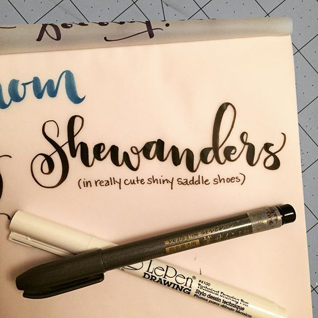 so great to catch up with my very motivating and inspiring friend @shewanders this eve!  can't wait for some fun collaborations in the future #calligraphy #brushpen #zebrapen #sdletters