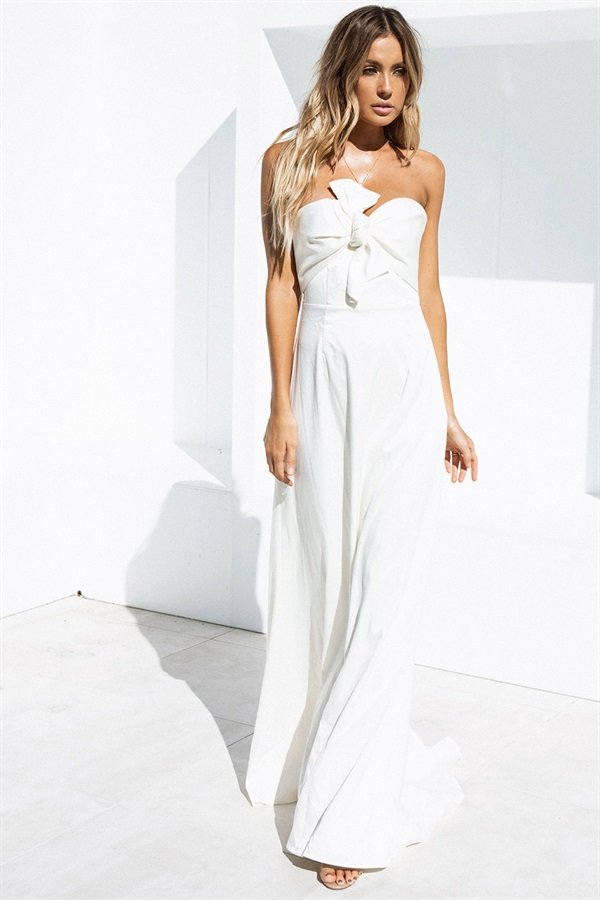 Venice Bridesmaid Dress Ivory - $298