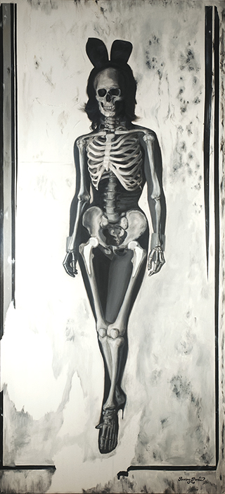 Memento Mori V (Tempus Fugit) 36 x 80 inches Oil on Canvas