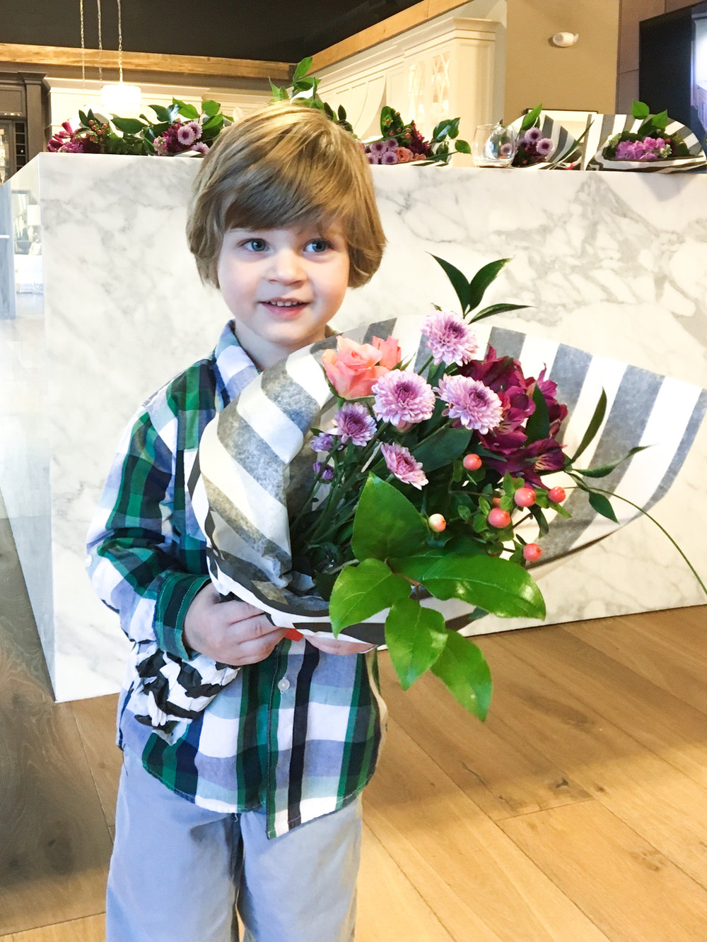 Who can resist flowers from this little cutie?