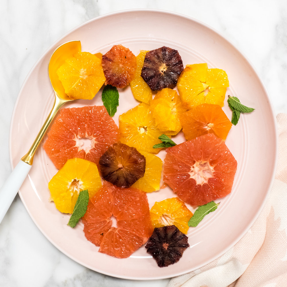 A citrus and mint salad is fresh, visually striking and easy to assemble.
