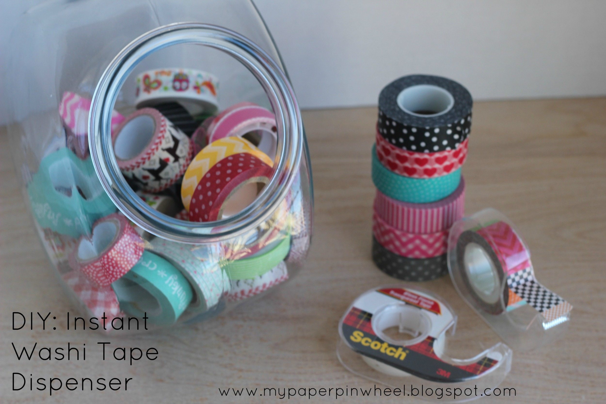 diy instant washi tape dispenser hey thuy. Black Bedroom Furniture Sets. Home Design Ideas