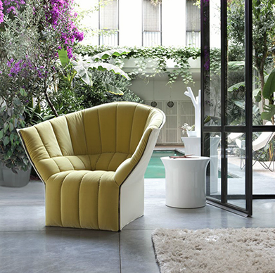 Inga Sempé, designer of the Moel Chair and the Ruché Armchair.