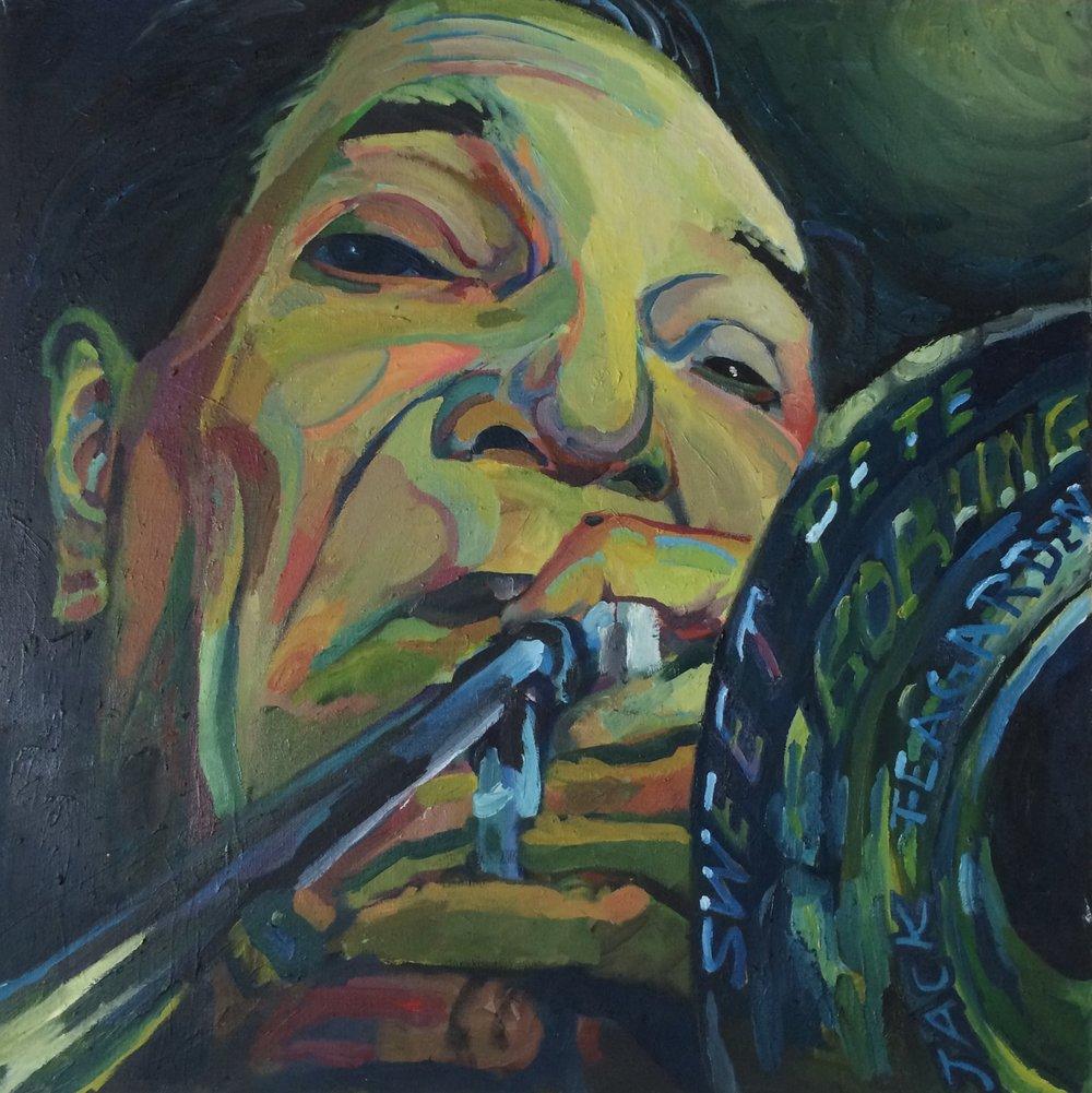 Jack Teagarden  24x24 oil on canvas