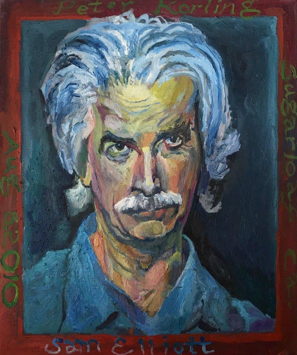 Sam Elliot  20x24 oil on canvas