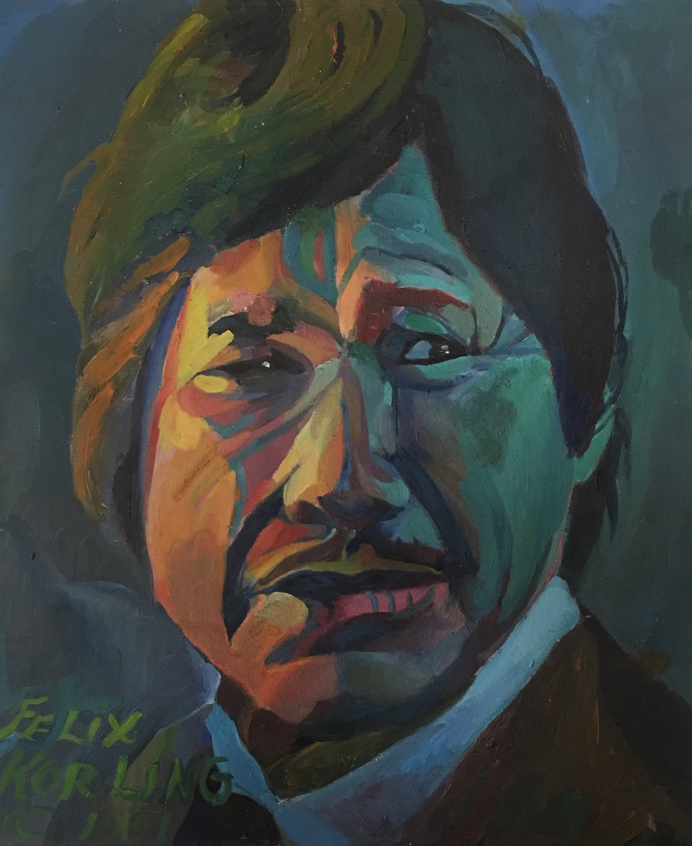 Charles Bronson   20x24 oil on canvas