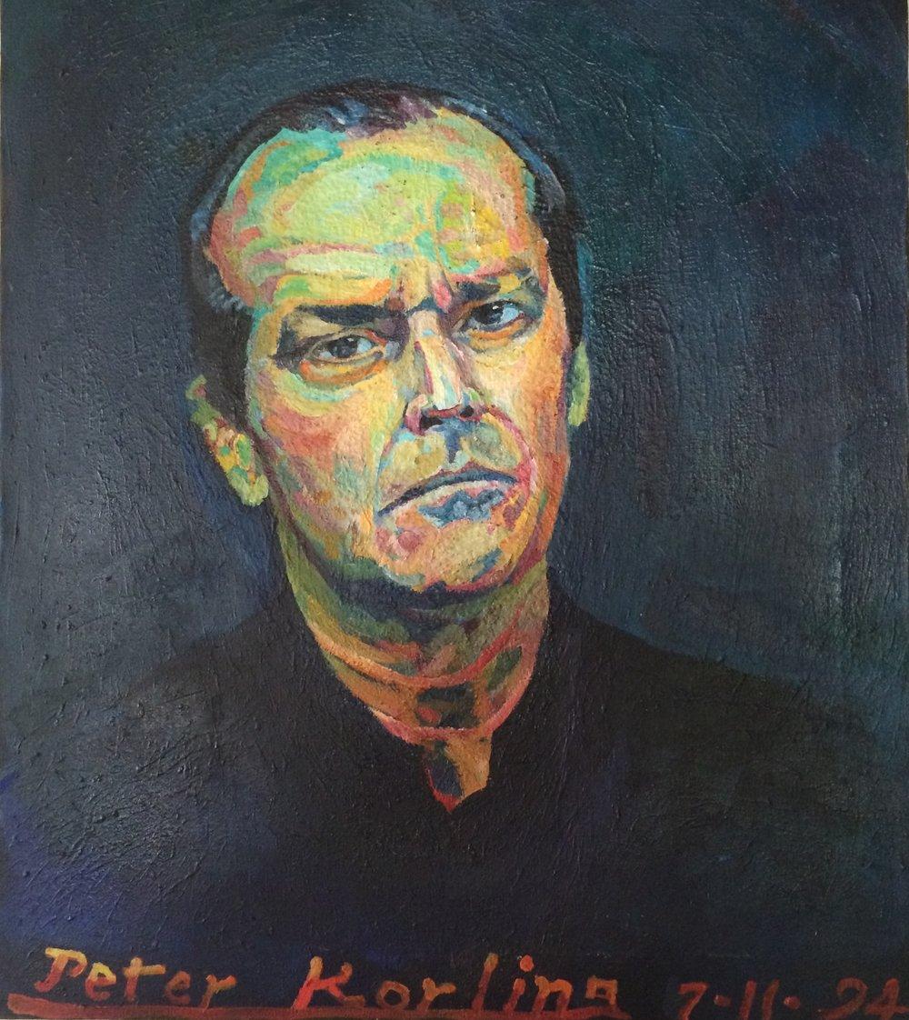 Jack Nicholson  20x24 oil on canvas