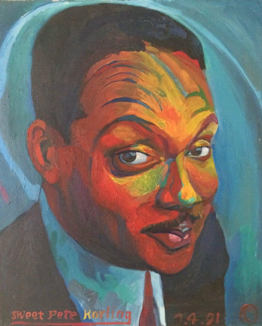 Wynton Marsalis  oil on canvas