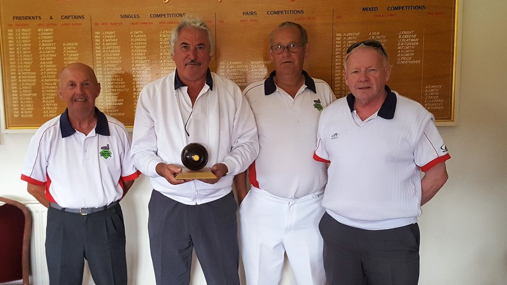 runners up were aston somerville a team l to r mick onions,  alan beal, ian sallis and  dave humphries