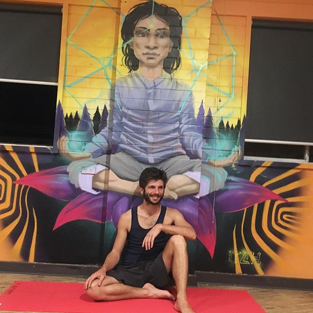 In my happy place, Chillin' with #Babaji  #yogi #yoga #yogamat #yogislife #yogisofinstagram #yogipower #yogalover #yogateachers #summerhealing #summerhealingyoga #miroslavp #connection #laugh #happy #meditation #standout #victoria #yogamelbourne #yogaaustralia