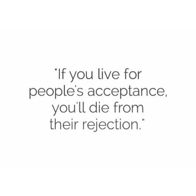 Food for Thought!! Once you accept yourself, everyone has no choice but to follow your lead 😜 We are way more amazing than we give ourselves credit for sometimes..